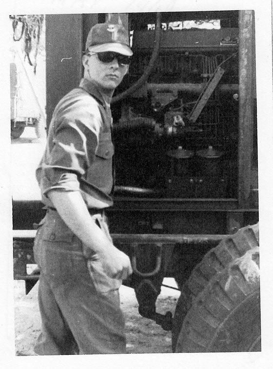 Jim Fortune working on a generator ~ Korea